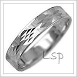 Snubní prsteny LSP 1038b bílé zlato