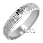 Snubní prsteny LSP 1039b bílé zlato