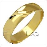 Snubní prsteny LSP 1040 žluté zlato