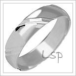 Snubní prsteny LSP 1040b bílé zlato