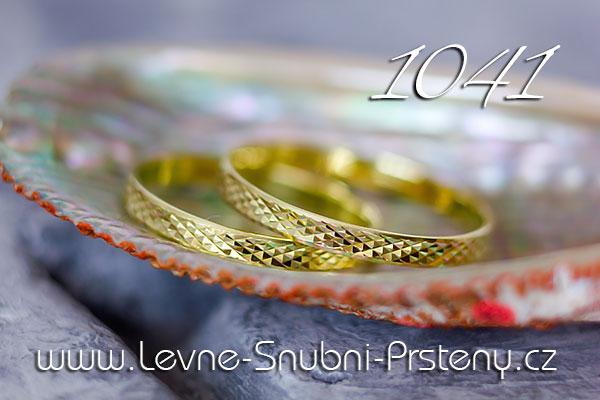Snubní prsteny LSP 1041 žluté zlato