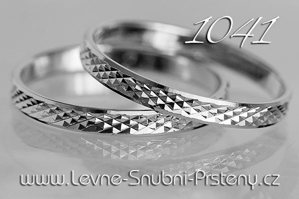 Snubní prsteny LSP 1041b bílé zlato