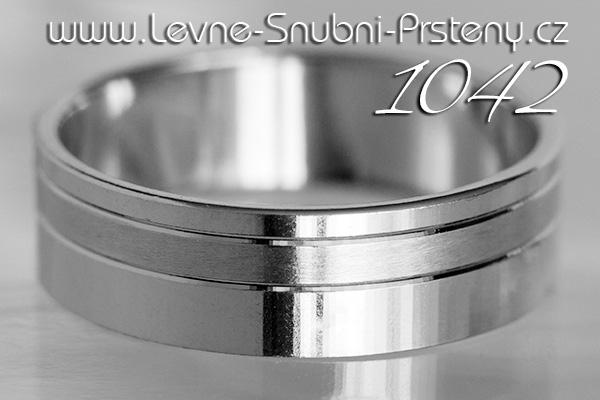Snubní prsteny LSP 1042b bílé zlato