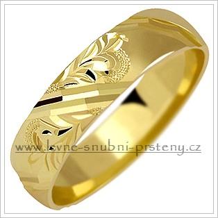 Snubní prsteny LSP 1043 žluté zlato