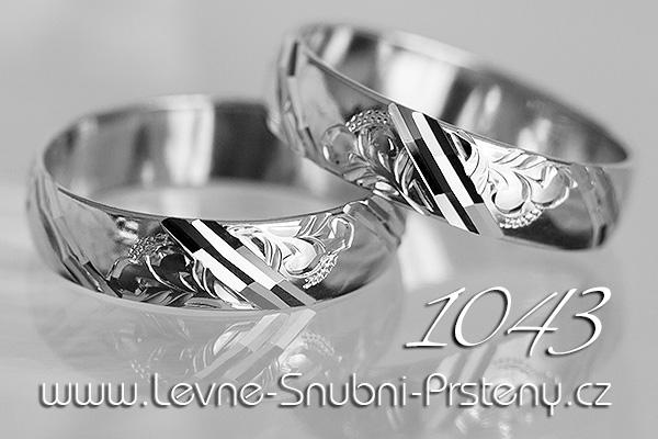 Snubní prsteny LSP 1043b bílé zlato