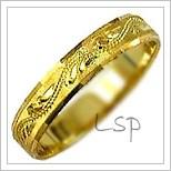 Snubní prsteny LSP 1044 žluté zlato
