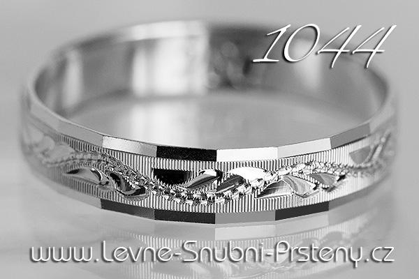 Snubní prsteny LSP 1044b bílé zlato