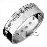 Snubní prsteny LSP 1045b bílé zlato