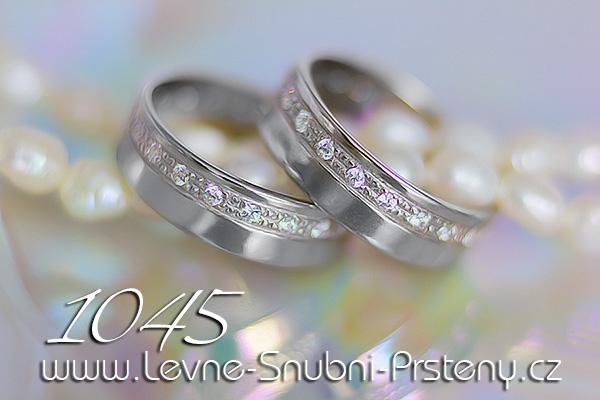 Snubní prsteny LSP 1045bz bílé zlato