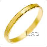 Snubní prsteny LSP 1046 žluté zlato