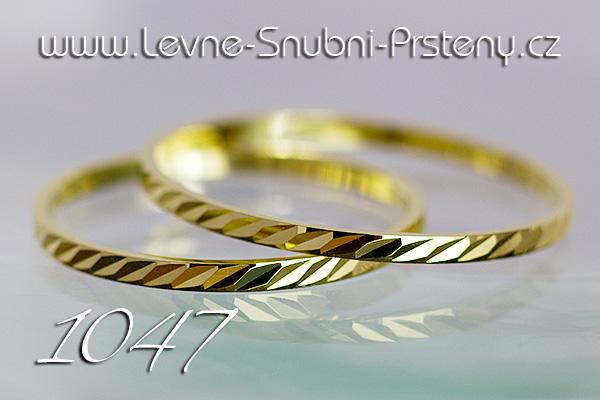 Snubní prsteny LSP 1047 žluté zlato