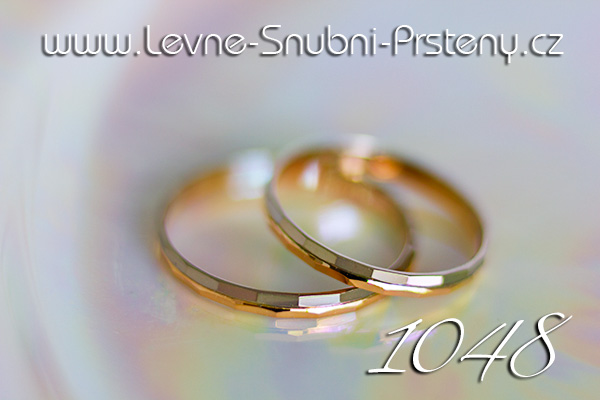 Snubní prsteny LSP 1048 kombinované zlato