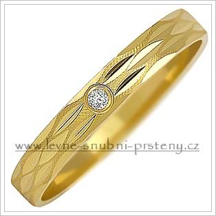 Snubní prsteny LSP 1049 žluté zlato s diamanty