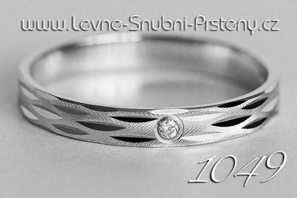 Snubní prsteny LSP 1049bz bílé zlato