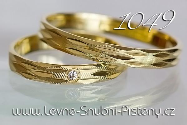 Snubní prsteny LSP 1049z žluté zlato