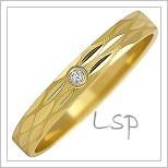 Snubní prsteny LSP 1049z žluté zlato se zirkony