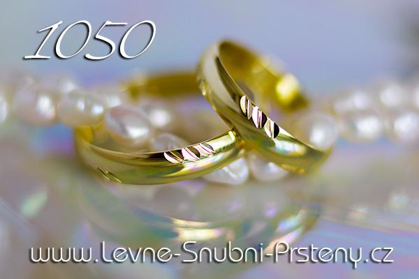 Snubní prsteny LSP 1050 žluté zlato