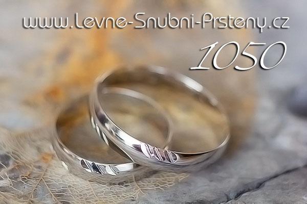 Snubní prsteny LSP 1050b bílé zlato