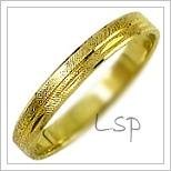 Snubní prsteny LSP 1051 žluté zlato