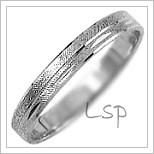 Snubní prsteny LSP 1051b bílé zlato