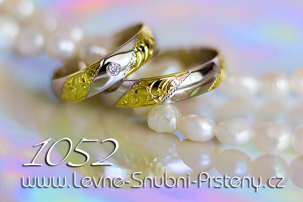 Snubní prsteny LSP 1052 kombinované zlato