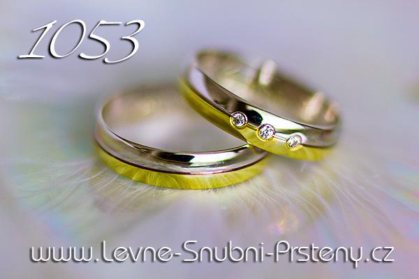 Snubní prsteny LSP 1053 kombinované zlato