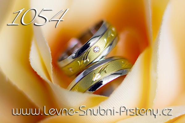 Snubní prsteny LSP 1054 kombinované zlato