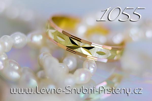 Snubní prsteny LSP 1055 kombinované zlato