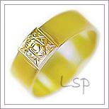Snubní prsteny LSP 1057 žluté zlato