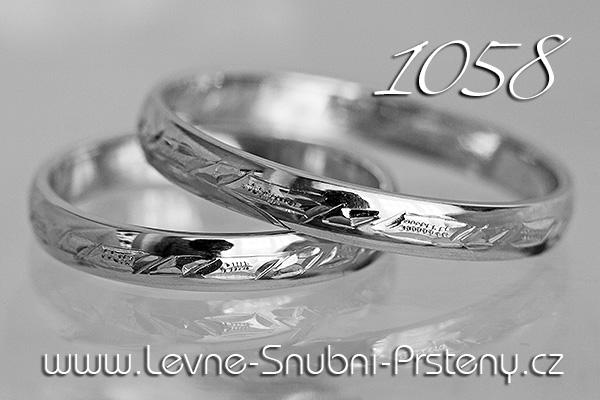Snubní prsteny LSP 1058 zlato