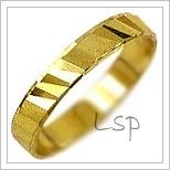 Snubní prsteny LSP 1060 žluté zlato