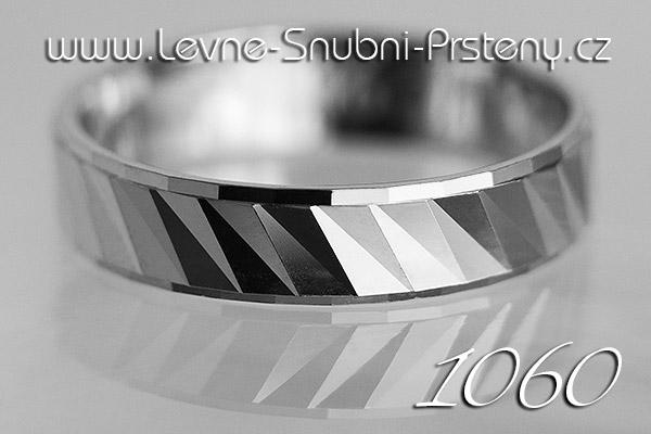 Snubní prsteny LSP 1060b bílé zlato