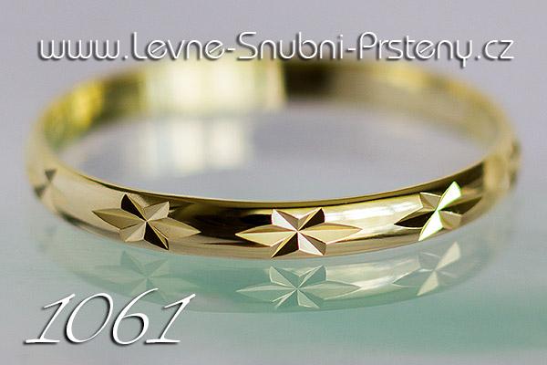 Snubní prsteny LSP 1061 žluté zlato