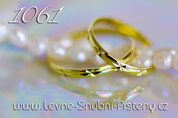 Snubní prsteny LSP 1061 zlato