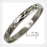 Snubní prsteny LSP 1061b bílé zlato