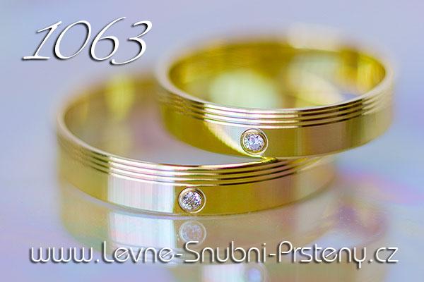 Snubní prsteny LSP 1063 žluté zlato s diamanty