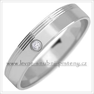 Snubní prsteny LSP 1063b bílé zlato