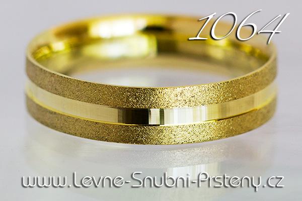 Snubní prsteny LSP 1064 žluté zlato