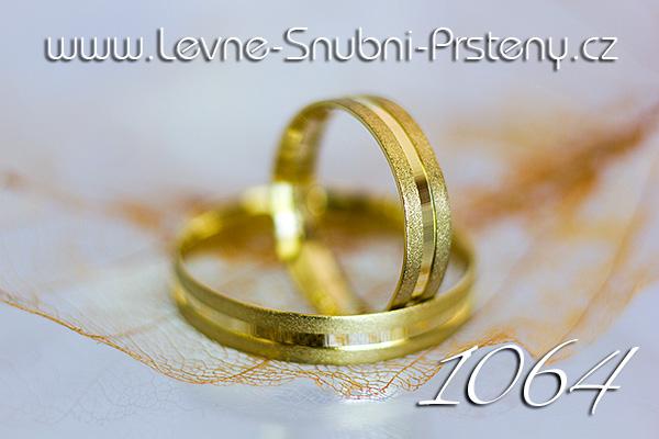 Snubní prsteny LSP 1064 žluté zlato s kamenem