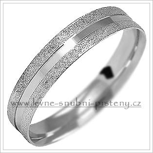 Snubní prsteny LSP 1064b bílé zlato