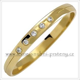 Snubní prsteny LSP 1065 žluté zlato s diamanty