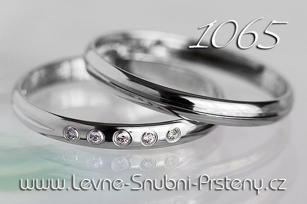Snubní prsteny LSP 1065b bílé zlato
