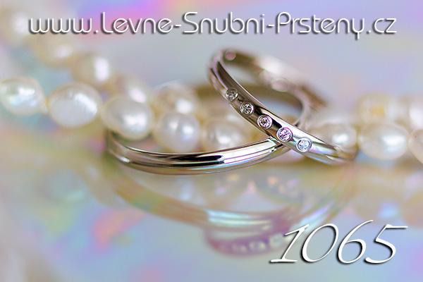 Snubní prsteny LSP 1065bz bílé zlato