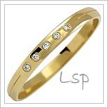 Snubní prsteny LSP 1065z žluté zlato se zirkony