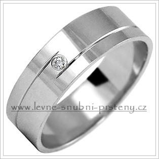 Snubní prsteny LSP 1066b bílé zlato