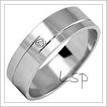 Snubní prsteny LSP 1066bz bílé zlato