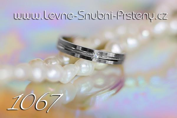 Snubní prsteny LSP 1067 bílé zlato