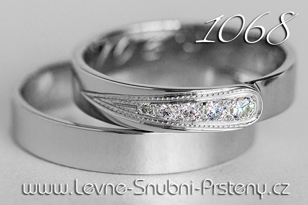 Snubní prsteny LSP 1068 bílé zlato