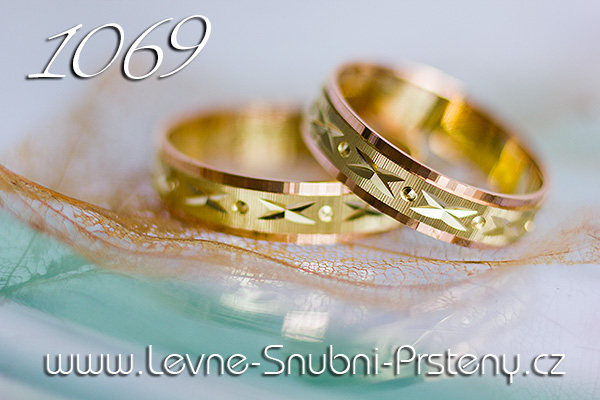 Snubní prsteny LSP 1069 kombinované zlato