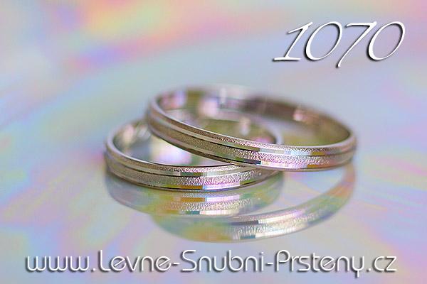 Snubní prsteny LSP 1070 bílé zlato